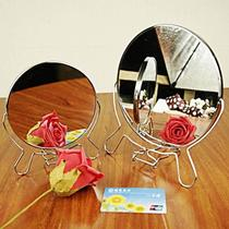 Box round mirror mirror Iron side mirror vintage dressing mirror cosmetic mirror metal double-sided mirror