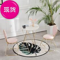 Chair K bedroom chair Home low table chair simple table simple lazy bay window table round table three-piece set ins wind