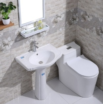 Column type washbasin basin one balcony ceramic column type washbasin bathroom column Basin vertical floor type household