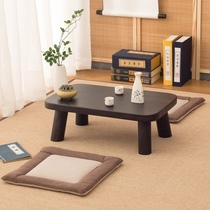 Japanese-style burning wood tatami table simple small square table low table table table several national science table solid wood window table