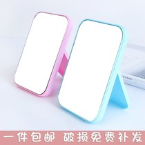 Simple rectangular desktop mirror student female HD Makeup Mirror desktop vanity mirror folding portable makeup mirror