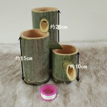 Bamboo Flow device DIY bamboo water cycle up and down the steps flow decoration bamboo tube drip device 9.9 yuan