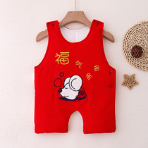 Baby tummy cotton newborn baby anti-kick even legs red belly around the child stomach artifact seasons seasons