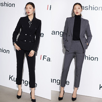 2019 autumn and Winter new fashion suit high-end temperament occupation loaded female Suit Suit big ol wind workplace dress