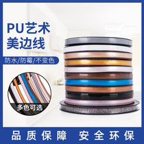 Art beauty self-adhesive home living room decorative plaster line ceiling line with plastic sealing edge negative angle line