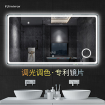 Smart bathroom mirror with light Wall led bathroom luminous anti-fog mirror toilet bathroom mirror touch screen custom