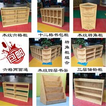 Cabinet toy locker combination area corner cabinet children bookshelf bag cabinet podium storage cabinet kindergarten teacher