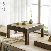 Bay window balcony solid wood rattan tatami small table coffee table tea table Kang a few Kang table Japanese-style low table modern minimalist