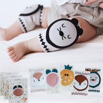 Summer new thin cotton baby crawling knee baby toddler drop mesh breathable Korean cartoon childrens socks