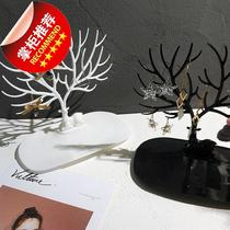 Antlers tree F creative display hanging earrings box shelf household jewelry storage box jewelry large capacity