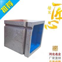 Square box 2 level cast iron square table right angle scraping bracket inspection fitter high J quality 400 precision type can be fixed.