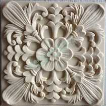 Home art sandstone TV background wall brick decorative European-style living room sandstone relief decorative plate carved stone brick
