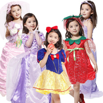 Childrens day dress up party costume snow white dress dress up