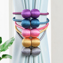 Curtain straps a pair of new magnet straps simple European-style tie rope curtain buckle cute creative new