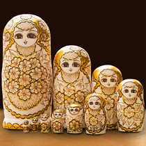 Professional set of shop imports of high-cold birch hand-crafted Russian set of 10 layers 1057.