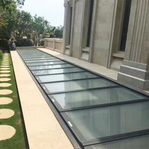 Electric aluminum alloy roof top sun room sunroof remote control Villa roof basement patio skylight
