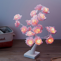 Creative gift 24 lights Valentines day rose small tree lights holiday bedroom decoration gift children Night Light Lamp