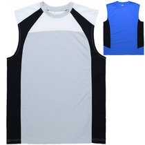 American sports vest male summer running training clothes elastic breathable quick-drying sleeveless T-shirt fitness clothing foreign trade