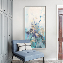 Hand-painted oil painting modern abstract porch aisle Nordic decorative painting vertical version of the living room door painting lucky feng shui