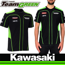 Summer Kawasaki highway motorcycle short sleeve T-Shirt street sports car Knight suit racing locomotive fans riding clothing