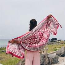 Bathing suit seaside travel vacation sunscreen shawl wrap skirt beach skirt scarf gauze bikini shawl