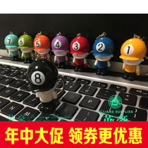 Hong Kong TP doll keychain pendant doll piggy bank with the key chain billiards jewelry competition gift prizes