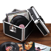 Vinyl record storage box LP collection box DVD box Big Box portable storage finishing metal box