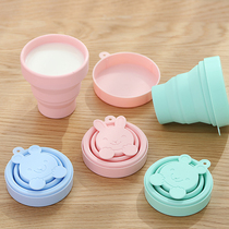 Silicone folding Cup travel mini portable Hotel Hotel mouthwash Cup retractable travel compressed soft water cup