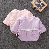 Newborn half-back Monk long-sleeved newborn baby baby strap on the clothes autumn and winter cotton coat