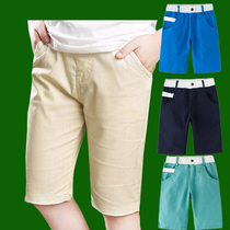 Youth golf sports clothing summer pants thin section breathable shorts childrens golf pants five pants