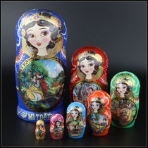 Genuine Russian doll 7 layer snow white ornaments handmade cute doll creative ornaments puzzle toys