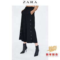 b158ec1a Xuan Yu genuine purchase ZARA womens vertical high waist pants decorated  with wide leg pants 2761247800