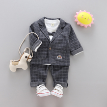 Baby year-old dress male autumn one-year-old dress baby Suit Suit male 1-3 years old Tide small suit three-piece suit