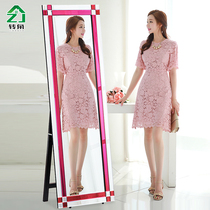 European mirror full-floor mirror bedroom home long mirror dormitory mobile fitting mirror hanging wall large mirror