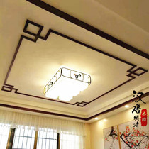 Dongyang wood carving Chinese ceiling solid wood lines background wall border door frame carved lines corner flower decoration spot