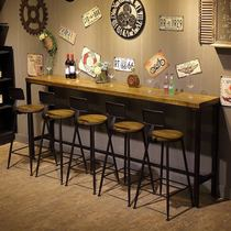 Industrial wind iron wood home bar table modern minimalist bar stool cafe bar tables and chairs