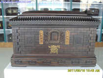 (Live) high-grade casket African ebony wooden funeral supplies Package Express