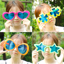 New Year party dress up big funny glasses fans creative childrens toys Funny game annual Meeting props
