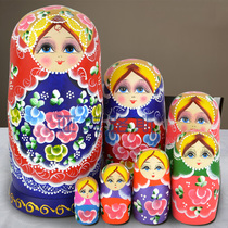 Yaklux hand-painted business gifts birthday gifts Basswood brand matryoshka 7 layer 0702