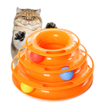 Taste it pet Buddy cat toy pet mouse toy three-tier cat turntable funny cat play plate cat toys