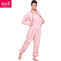 According to the more beautiful sauna weight loss clothes lady Set sports sweating suit jump exercise weight loss pants Big code running sweat suit