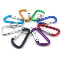 Outdoor travel Wild D-Type carabiner outer buckle fast hanging buckle kettle hanging buckle key buckle hook with lock