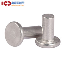 GB109 Flat head aluminum Rivet Aluminum Willow nail Solid rivet hand Knock type rivet M3 M4 M5 M6