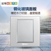 Bull switch socket 86 Crystal induced Moonlight Silver Plate blank panel socket cover empty panel white cover G22