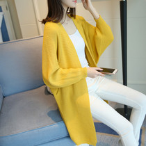 Cardigan sweater women in the long section of the Korean version of the loose very fairy sweater outside the spring and autumn 2019 new spring coat