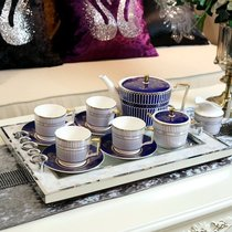 Neoclassical European model home decorations ornaments ceramic bone china coffee cup coffee tea set