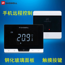 SASWELL Sen Weier wall hanging furnace thermostat wired wireless thermostat wifi mobile phone control touch keys