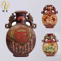 Chinese classical ceramic crafts Cai Tao large vase home living room entrance decoration decoration business gifts furnishings
