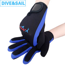 1 5MM scratch-resistant diving gloves winter swimming warm coral men and women outdoor anti-scratch swimmers webbed snorkeling equipment