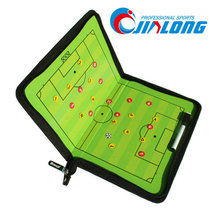 Zipper bag soccer game trainer tactics board cortical magnetic folding football training tactics plate
